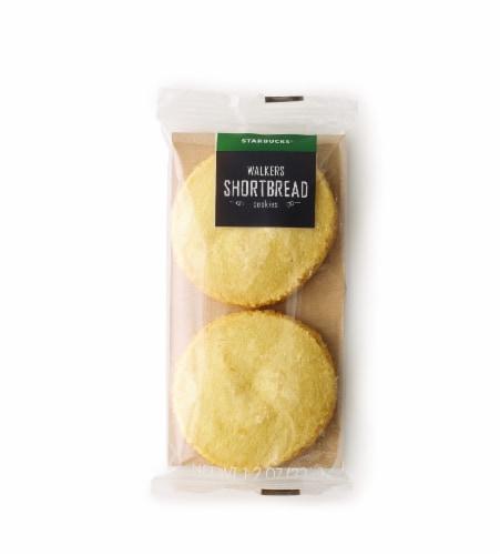 Starbucks Walkers Shortbread Cookies 2 Count Perspective: front