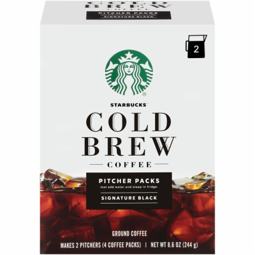 Starbucks Cold Brew Black Ground Coffee Perspective: front