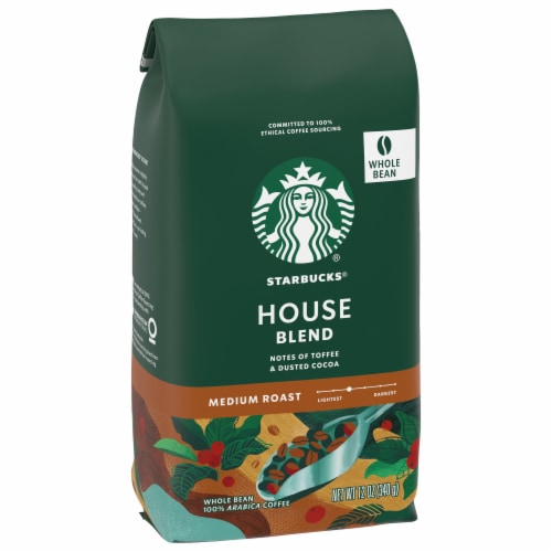 Starbucks House Blend Medium Roast Whole Bean Coffee Perspective: front