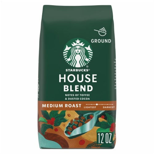 Starbucks House Blend Medium Roast Ground Coffee Perspective: front