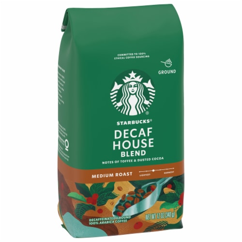 Starbucks Decaf House Blend Medium Roast Ground Coffee Perspective: front