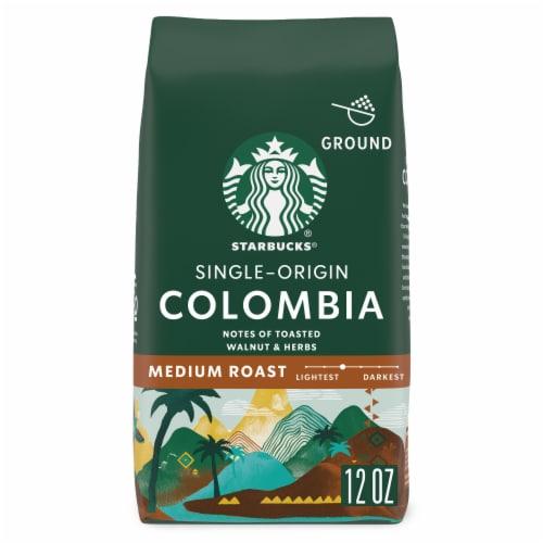 Starbucks Colombia Single-Origin Medium Roast Ground Coffee Perspective: front