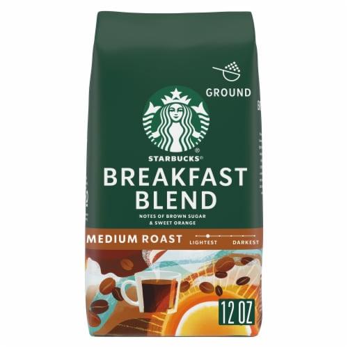 Starbucks Breakfast Blend Medium Roast Ground Coffee Perspective: front