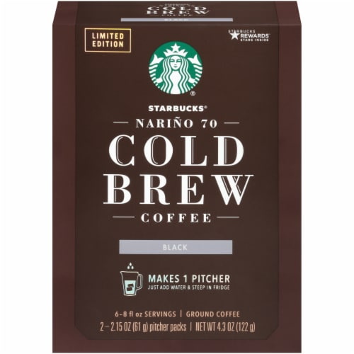 Starbucks Cold Brew Ground Coffee Pitcher Packs Perspective: front