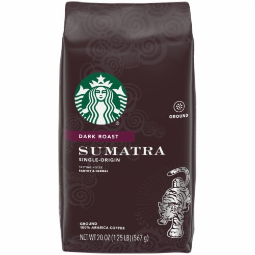 Starbucks Sumatra Dark Roast Ground Coffee Perspective: front
