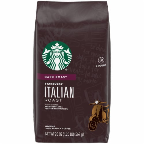 Starbucks Italian Dark Roast Ground Coffee Perspective: front