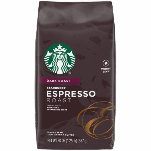 Starbucks Espresso Dark Roast Whole Bean Coffee Perspective: front