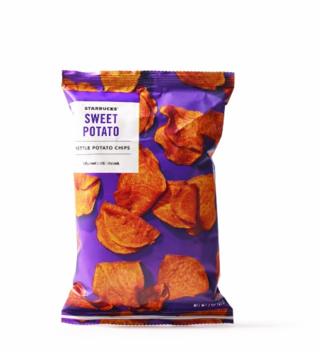 Starbucks Sweet Potato Kettle Cooked Chips Perspective: front