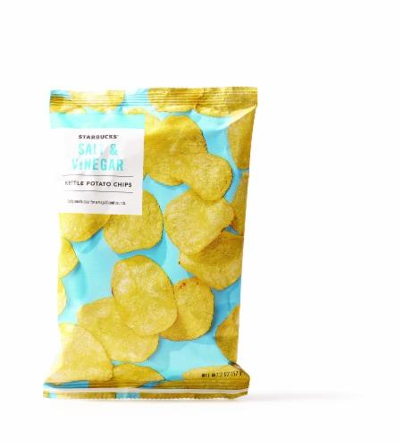 Starbucks Salt & Vinegar Kettle Potato Chips Perspective: front