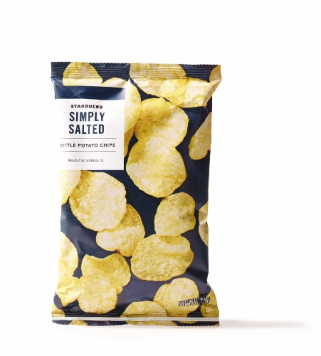 Starbucks Simply Salted Kettle Potato Chips Perspective: front