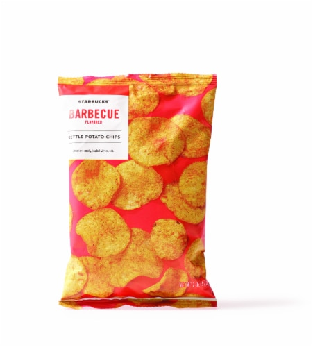Starbucks Barbeque Flavored Kettle Potato Chips Perspective: front