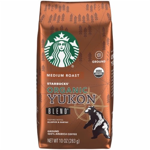 Starbucks Organic Yukon Blend Medium Roast Ground Coffee Perspective: front