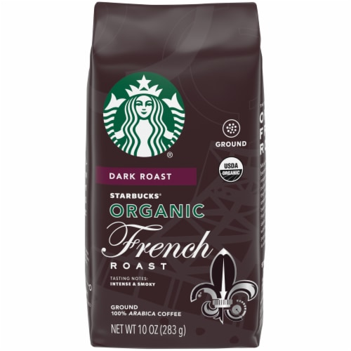 Starbucks Organic French Roast Ground Coffee Perspective: front