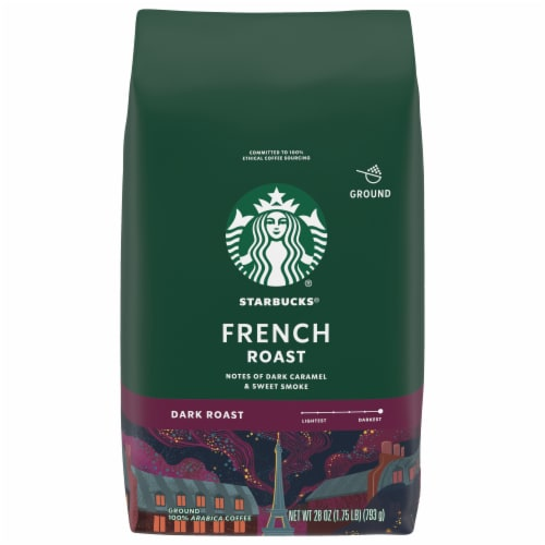 Starbucks French Roast Ground Coffee Perspective: front