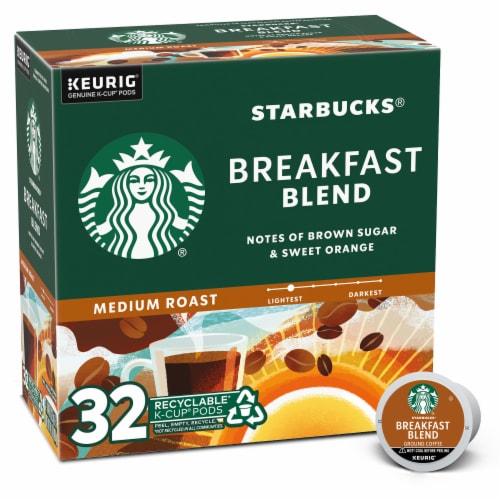 Starbucks Breakfast Blend Medium Roast Ground Coffee K-Cup Pods Perspective: front