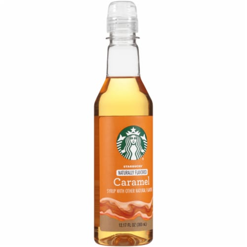 Starbucks  Naturally Flavored Syrup   Caramel Perspective: front