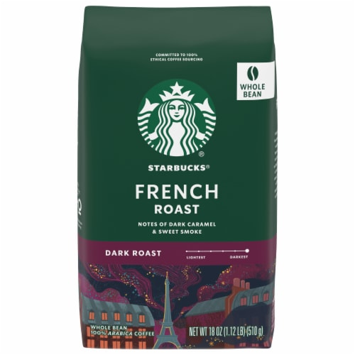 Starbucks French Roast Whole Bean Coffee Perspective: front