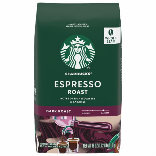 Starbucks Espresso Roast Whole Bean Coffee Perspective: front