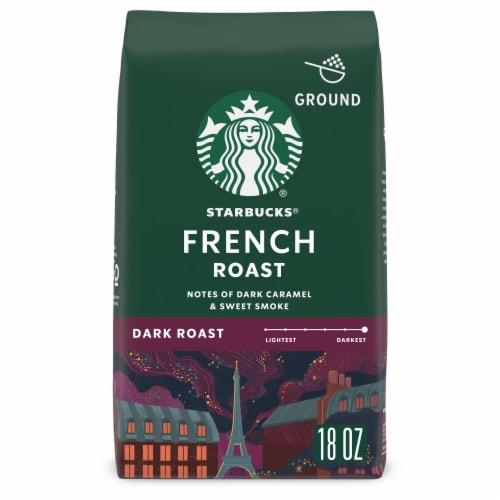 Starbucks French Roast Dark Roast Ground Coffee Perspective: front