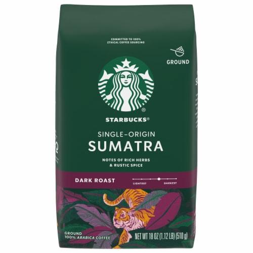 Starbucks Sumatra Dark Roast Ground Coffee Perspective: front