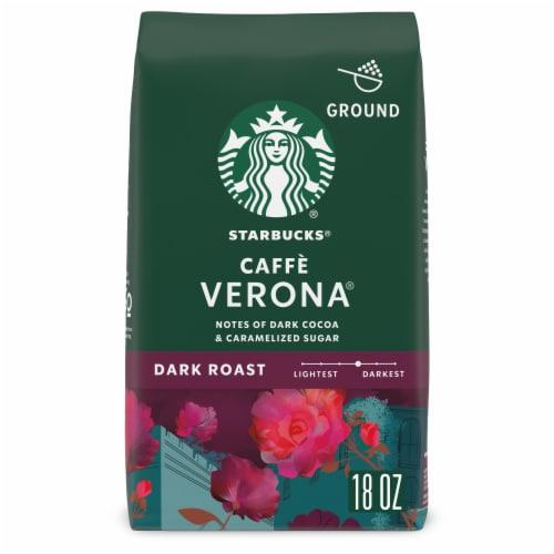 Starbucks Caffe Verona Dark Roast Ground Coffee Perspective: front