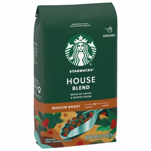 Starbucks House Blend Medium Roast Ground Coffee Perspective: front