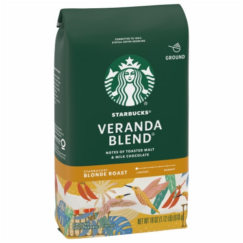 Starbucks Blonde Roast Veranda Blend Ground Coffee Perspective: front