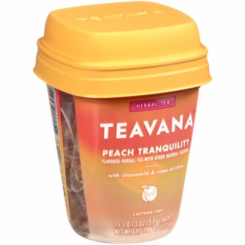 Teavana Peach Tranquility Herbal Tea Sachets Perspective: front