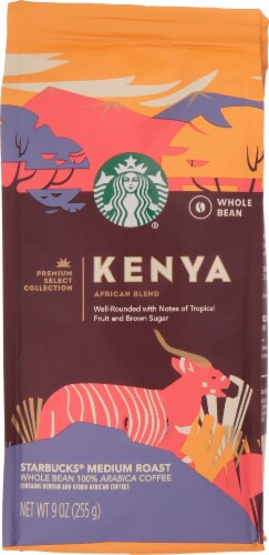 Starbucks Kenya Medium Roast Whole Bean Coffee Perspective: front