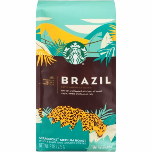Starbucks Brazil Medium Roast Whole Bean Coffee Perspective: front