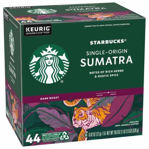 Starbucks Sumatra Dark Roast Ground Coffee K-Cup Pods Perspective: front