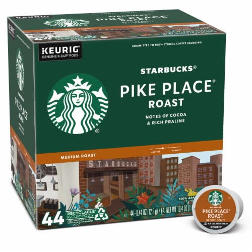 Starbucks Pike Place Medium Roast Ground Coffee K-Cup Pods Perspective: front