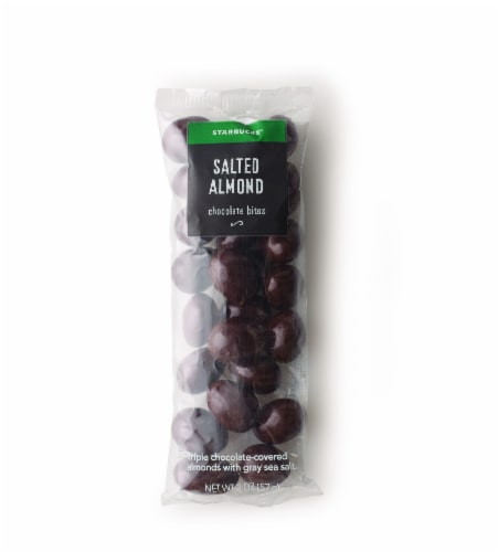 Starbucks Salted Almond Chocolate Bites Perspective: front