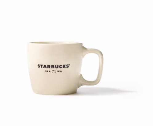 Starbucks Ceramic Handle Mug - White Perspective: front
