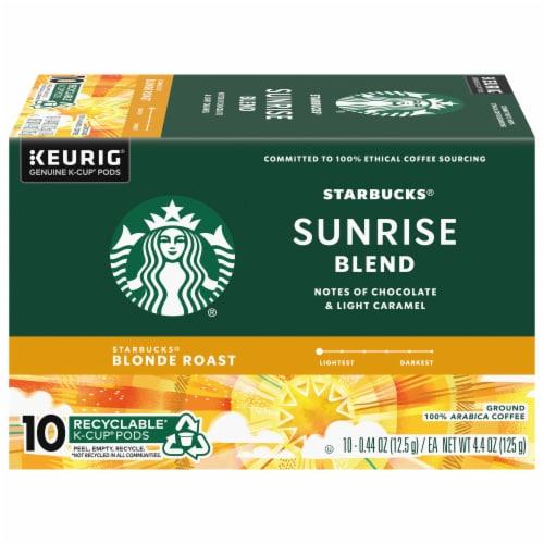 Starbucks Blonde Sunrise Blend K-Cup Pods Perspective: front