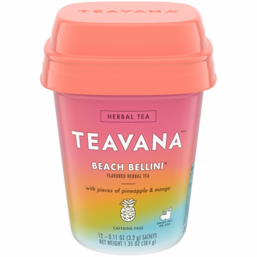 Teavana™ Beach Bellini Caffeine Free Herbal Tea Bags Perspective: front