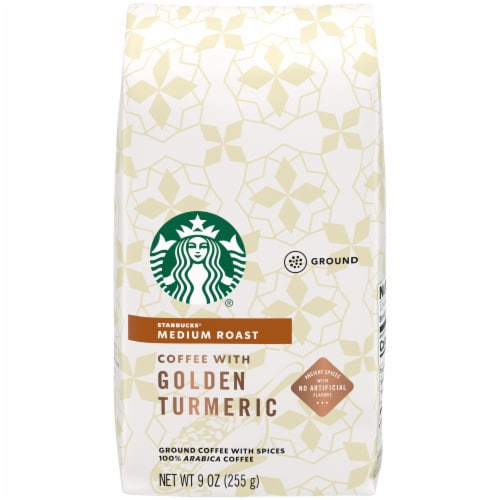 Starbucks Golden Turmeric Medium Roast Ground Coffee Perspective: front