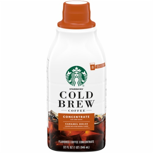 Starbucks Cold Brew Caramel Dolce Coffee Concentrate Perspective: front