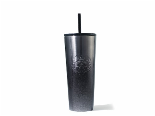 Starbucks Gradient Glitter Cold Cup - Black Perspective: front