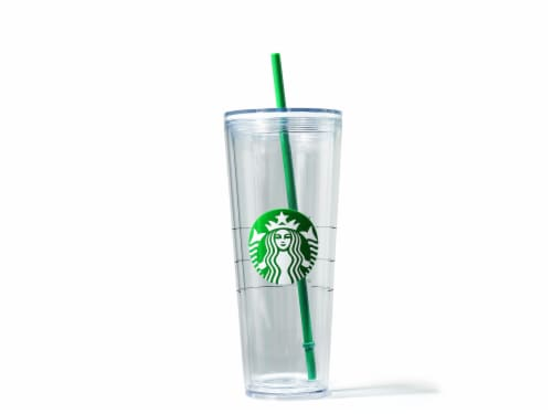 Starbucks Core Plastic Cold Cup - Clear Perspective: front