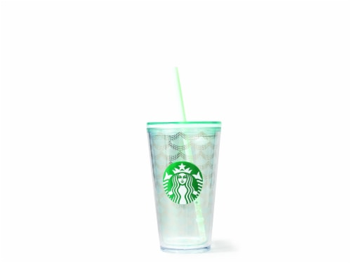 Starbucks Geo Scale Cold Cup - Gold Perspective: front