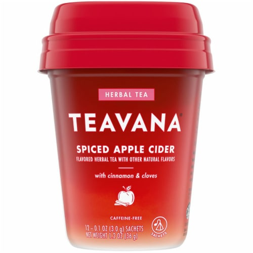 Teavana Spiced Apple Cider Herbal Tea Perspective: front