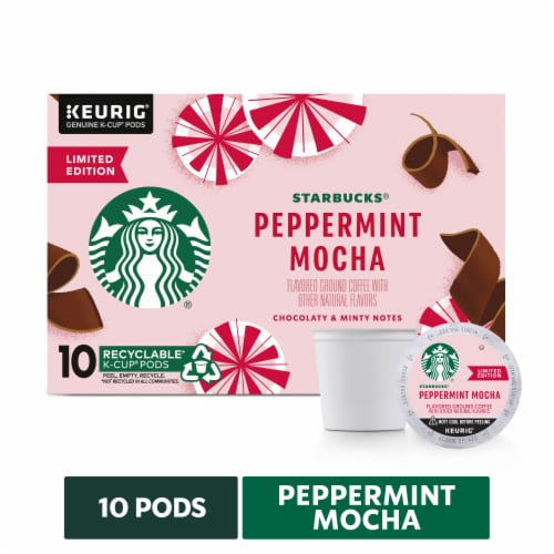 Starbucks Christmas Flavored Kcups 2021 Baker S Starbucks Peppermint Mocha Ground Coffee K Cup Pods 10 Ct