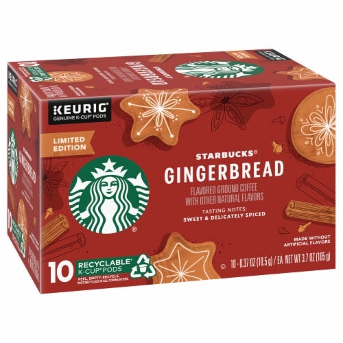Starbucks Gingerbread Coffee K-Cup Pods Perspective: front