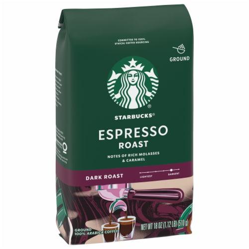 Starbucks Espresso Roast Ground Coffee Perspective: front