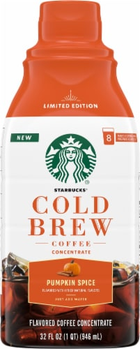 Starbucks® Pumpkin Spice Coldbrew Coffee Concentrate Perspective: front