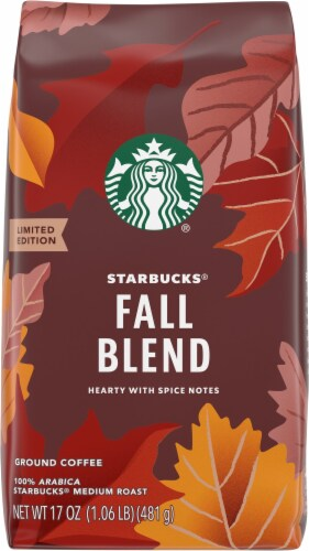 Starbucks Fall Blend Ground Coffee Perspective: front