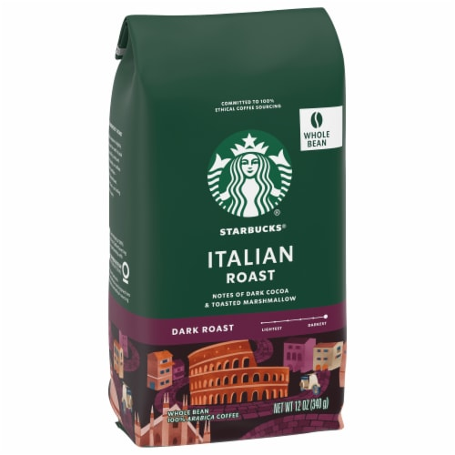 Starbucks Italian Dark Roast Whole Bean Coffee Perspective: front