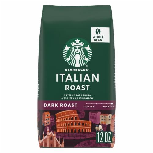 Starbucks® Italian Roast Dark Roast Whole Bean Coffee Perspective: front