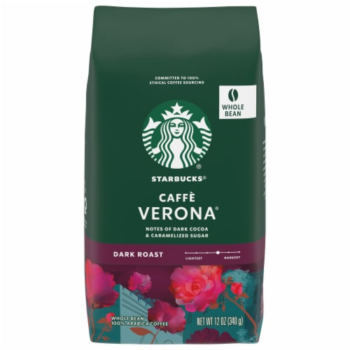 Starbucks Caffe Verona Dark Roast Whole Bean Coffee Perspective: front